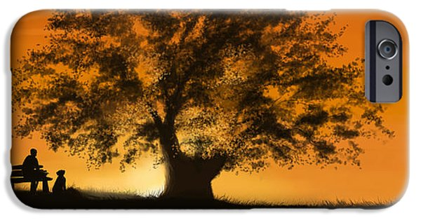 Tree Print Digital iPhone Cases - Perfect moment iPhone Case by Veronica Minozzi