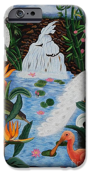 Food And Beverage Tapestries - Textiles iPhone Cases - Perfect Paradise hand embroidery iPhone Case by To-Tam Gerwe