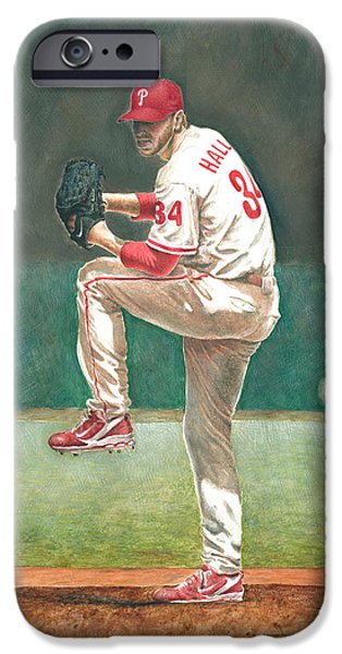 Baseball Glove Paintings iPhone Cases - Perfect iPhone Case by Randall Graham