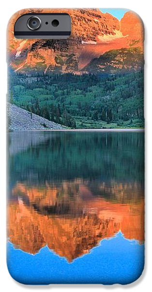 Perfect Reflections At The Bells iPhone Case by Adam Jewell
