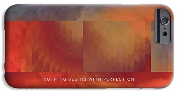 Philosophy iPhone Cases - Perfection Motivational Art iPhone Case by LC Bailey