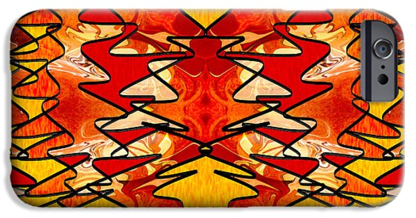 Poetic iPhone Cases - Perfectly Balanced Chakras Abstract Creativity Art  iPhone Case by Omaste Witkowski