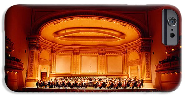 Symphony Hall iPhone Cases - Performers On A Stage, Carnegie Hall iPhone Case by Panoramic Images