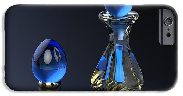 Photorealistic iPhone Cases - Perfume Bottle - Hint of Blue iPhone Case by Hakon Soreide