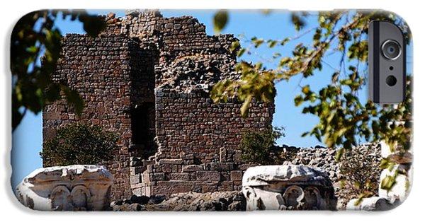Zeus iPhone Cases - Pergamum - Premier Ancient site in Turkey iPhone Case by Jacqueline M Lewis