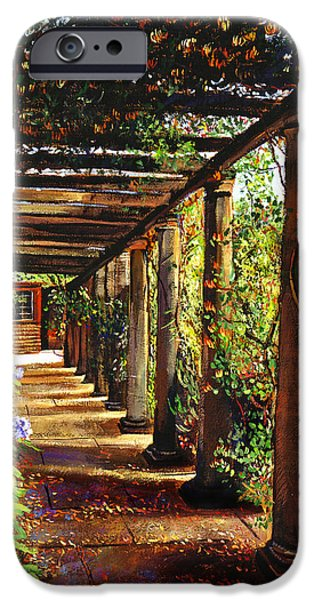 Most Sold iPhone Cases - Pergola Walkway iPhone Case by David Lloyd Glover