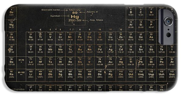 Science Paintings iPhone Cases - Periodic Table of the Elements iPhone Case by Grace Pullen