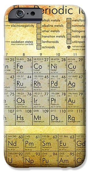 Periodic Table of the Elements iPhone Case by Nomad Art And  Design