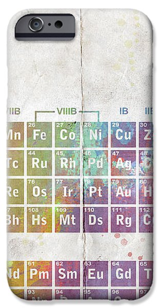 Periodic Table of The Elements iPhone Case by Paulette B Wright