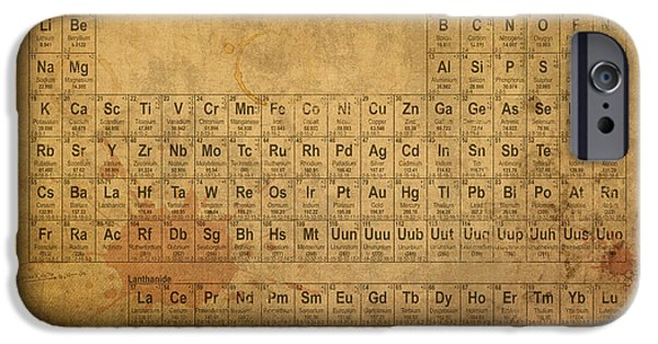 Vintage iPhone Cases - Periodic Table of the Elements iPhone Case by Design Turnpike