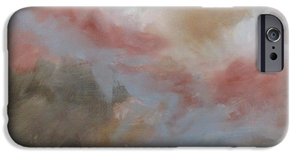 Raw Sienna iPhone Cases - Peripheral Vision XI iPhone Case by Elis Cooke