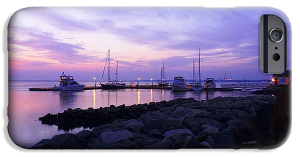 Yorktown iPhone Cases - Periwinkle Morning Yorktown Virginia iPhone Case by Olahs Photography
