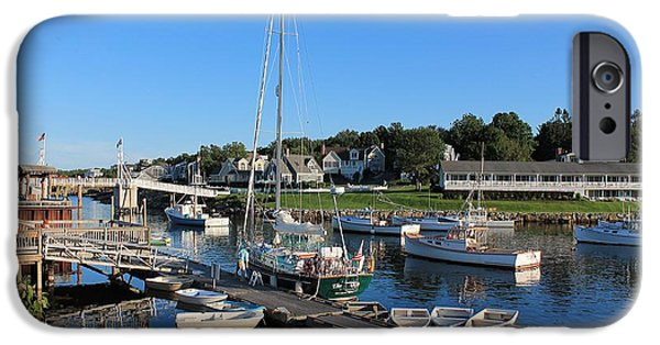 Heading Out iPhone Cases - Perkins Cove 2 iPhone Case by Michael Saunders