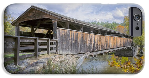 Covered Bridge iPhone Cases - Perrines Covered Bridge iPhone Case by Joan Carroll