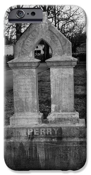 Final Resting Place iPhone Cases - Perry Family Grave marker iPhone Case by Robert Hebert