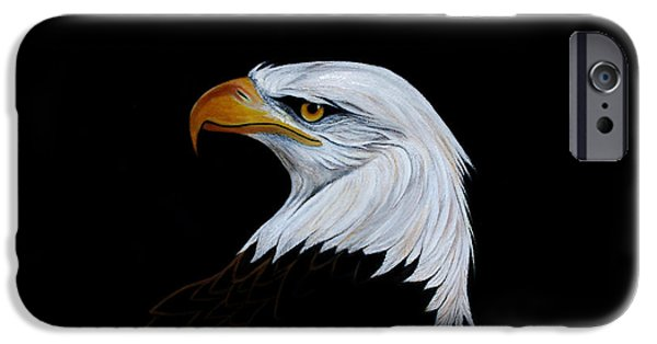 American Eagle Paintings iPhone Cases - Perserverance iPhone Case by Adele Moscaritolo