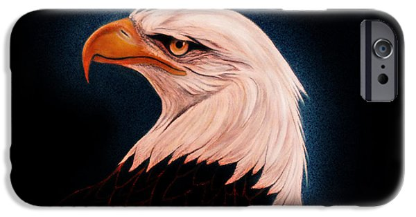 Eagle Paintings iPhone Cases - Perserverance II iPhone Case by Adele Moscaritolo