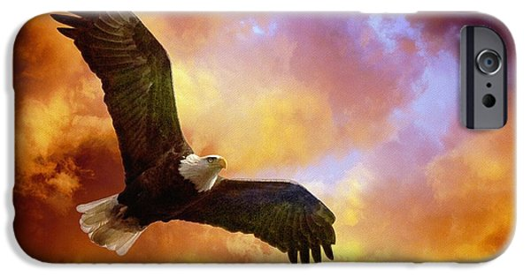 Fiery iPhone Cases - Perseverance iPhone Case by Lois Bryan