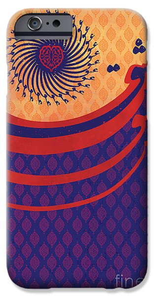 Calligraphy Print iPhone Cases - Persian Caligraphy iPhone Case by Sassan Filsoof