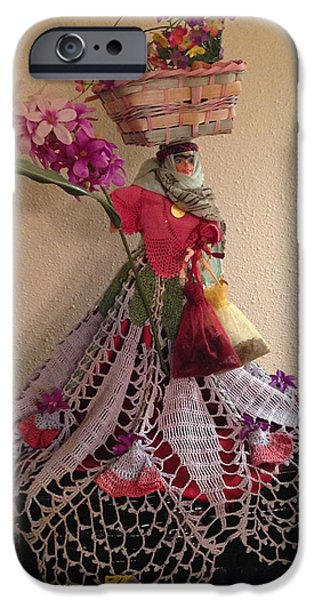 Basket Sculptures iPhone Cases - Persian Doll- Dokhtar Irooni iPhone Case by Sima Amid Wewetzer