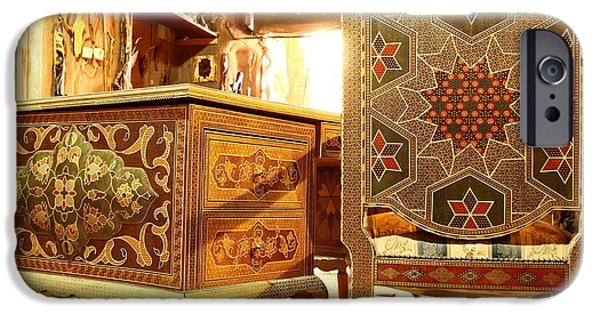 Chair Sculptures iPhone Cases - Persian Handmade Table Chair Home Office iPhone Case by Persian Art