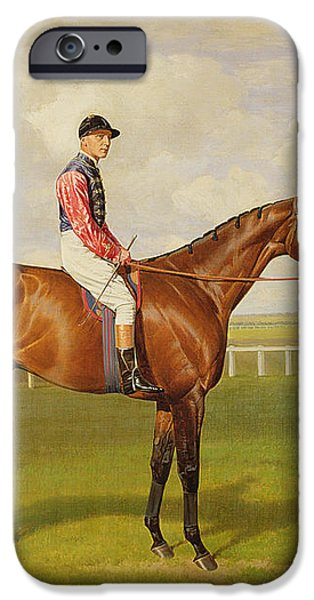Persimmon Winner of the 1896 Derby iPhone Case by Emil Adam