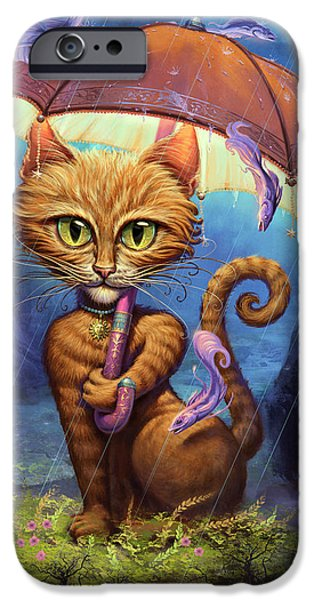 Orange Tabby iPhone Cases - Personal Sunshine iPhone Case by Jeff Haynie