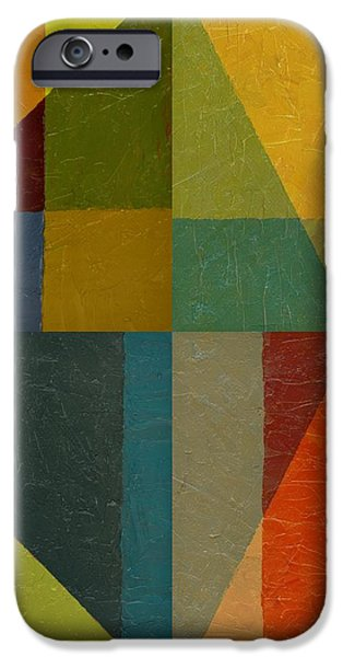 Perspective in Color Collage iPhone Case by Michelle Calkins