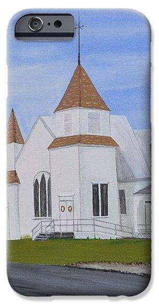 Peru Congregational Church iPhone Case by Sally Rice