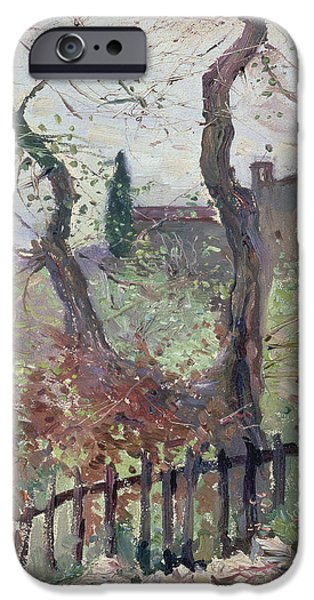 Italian Landscapes Paintings iPhone Cases - Perugia  Umbria iPhone Case by Konstantin Andreevic Somov