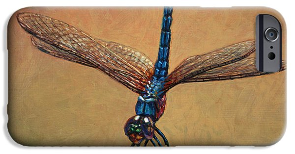 Dragonfly iPhone Cases - Pet Dragonfly iPhone Case by James W Johnson