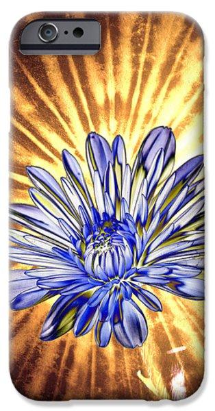 Floral Digital Art Digital Art iPhone Cases - Petal Blast iPhone Case by Bill Tiepelman