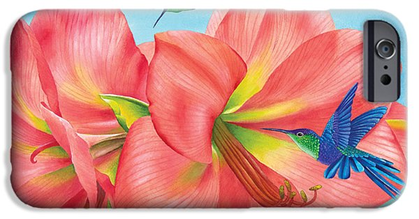 Nectar iPhone Cases - Petal Passion iPhone Case by Carolyn Steele