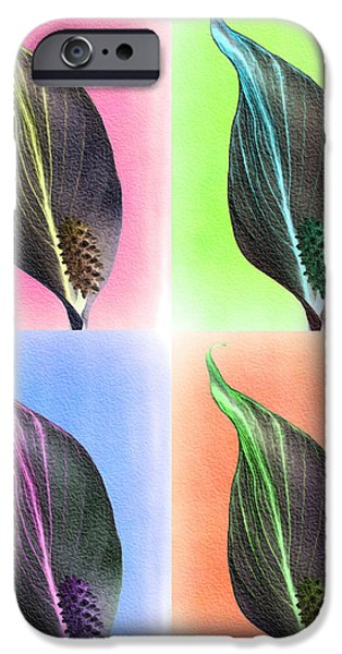 Abstract Digital Photographs iPhone Cases - Petal Power iPhone Case by Christine Smart