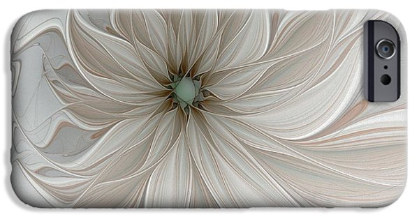Floral Digital Art Digital Art Digital Art iPhone Cases - Petal Soft White iPhone Case by Amanda Moore