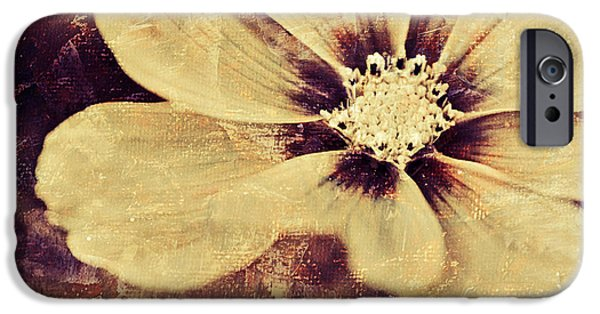 Flora Mixed Media iPhone Cases - Petaline - t37d03a3 iPhone Case by Variance Collections