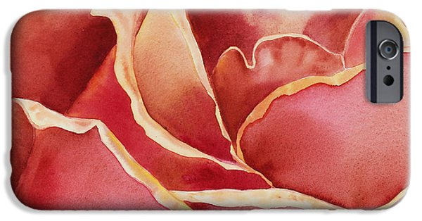 Rose Petals iPhone Cases - Petals Petals I iPhone Case by Irina Sztukowski