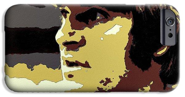 Baseball iPhone Cases - Pete Rose Portrait Art iPhone Case by Florian Rodarte