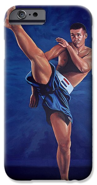 Muscle Paintings iPhone Cases - Peter Aerts  iPhone Case by Paul  Meijering