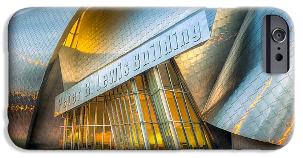 Stainless Steel iPhone Cases - Peter B. Lewis Building I iPhone Case by Clarence Holmes