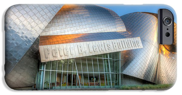 Stainless Steel iPhone Cases - Peter B. Lewis Building III iPhone Case by Clarence Holmes