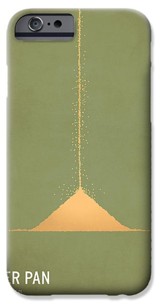 Modern Digital Art iPhone Cases - Peter Pan iPhone Case by Christian Jackson