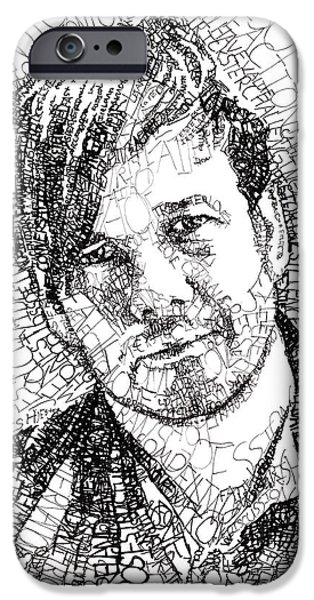 Michael iPhone Cases - Peter Rollins iPhone Case by Michael  Volpicelli