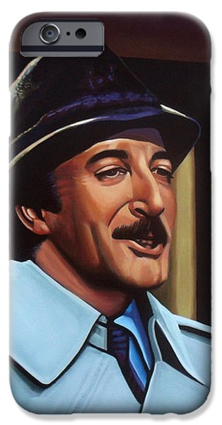Peter Sellers as inspector Clouseau  iPhone Case by Paul Meijering