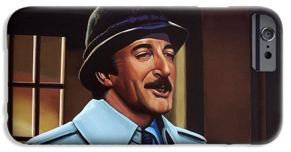 Comedian iPhone Cases - Peter Sellers as inspector Clouseau  iPhone Case by Paul Meijering