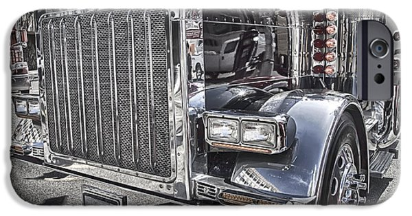 Board iPhone Cases - Peterbilt 2005 iPhone Case by Theresa Tahara
