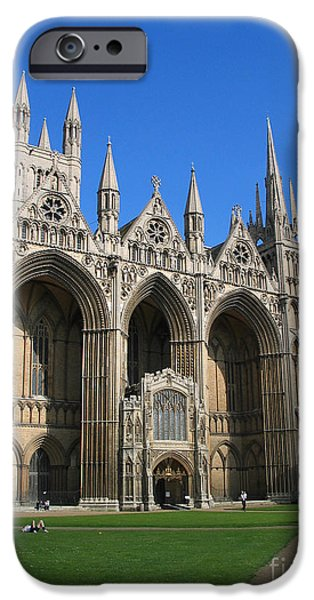 Jason O. Watson iPhone Cases - Peterborough Cathedral iPhone Case by Jason O Watson