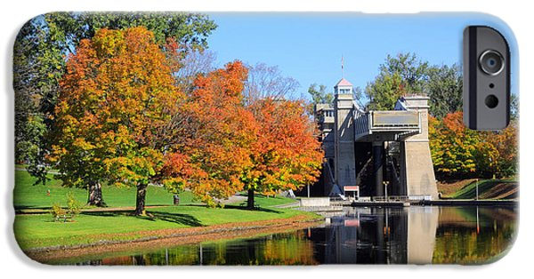 Historic Site iPhone Cases - Peterborough Lift Lock iPhone Case by Charline Xia