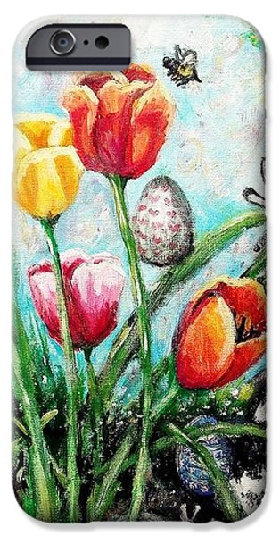 Peters Easter Garden iPhone Case by Shana Rowe