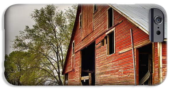 Old Barns iPhone Cases - Peterson Barn iPhone Case by Scott Moss